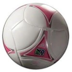 A Pink Soccer Ball Used During A Mom's Night Soccer Game